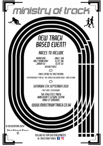 Track running event, race a marathon or 10k